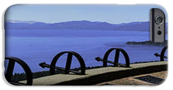 Mount Rose iPhone Cases - Mt Rose Highway Scenic Overlook Panorama iPhone Case by LeeAnn McLaneGoetz McLaneGoetzStudioLLCcom