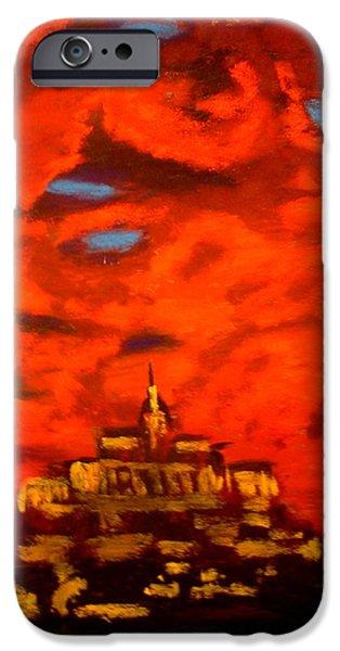 Mt Saint Michael  iPhone Case by Joseph Hawkins