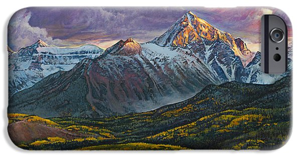 Recently Sold -  - Snowy iPhone Cases - Mt. Sneffels iPhone Case by Aaron Spong