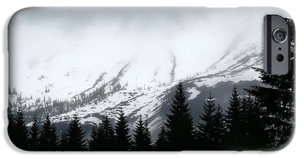 Winter Storm iPhone Cases - Mt St Helens........A Looming Storm iPhone Case by Rich Collins