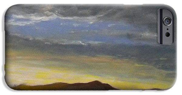 Sausalito Paintings iPhone Cases - Mt Tam from Sausalito iPhone Case by Katie Horacek
