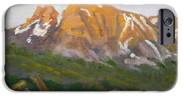 Park Scene Paintings iPhone Cases - Mt. Tekarra iPhone Case by Mohamed Hirji