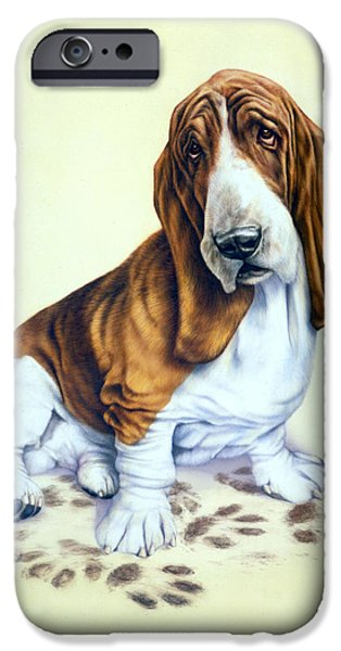 Animal Portraits iPhone Cases - Mucky Pup iPhone Case by Andrew Farley