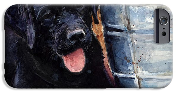 Labrador Puppy iPhone Cases - Mud Pies iPhone Case by Molly Poole