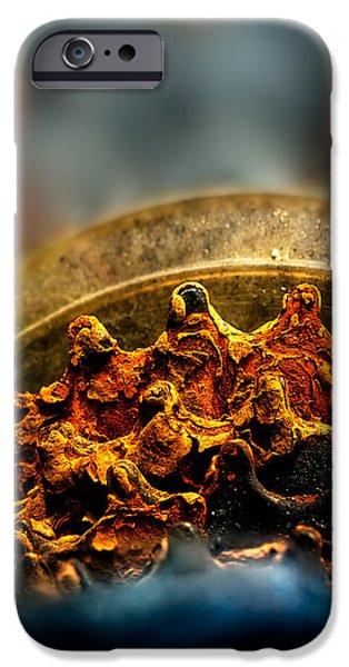 Muddy Rusty Sprockets iPhone Case by Bob Orsillo