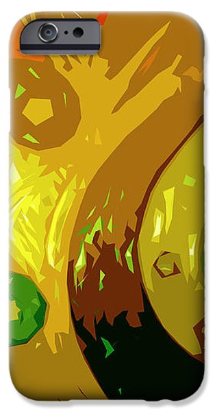 Abstract Digital Art iPhone Cases - Mudlark Panel 2 iPhone Case by Ryan Burton