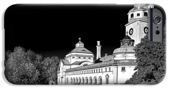 Interior Scene iPhone Cases - Muellersches Volksbad - Munich Germany iPhone Case by Christine Till