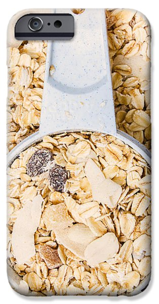 Oatmeal iPhone Cases - Muesli scoop serving cup iPhone Case by Ryan Jorgensen