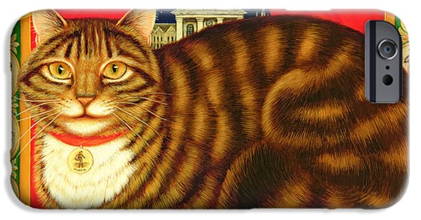 Punch iPhone Cases - Muffin, The Covent Garden Cat, 1996 Oil & Tempera On Panel iPhone Case by Frances Broomfield
