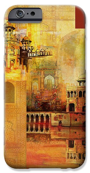 Pakistan iPhone Cases - Mughal Art iPhone Case by Catf