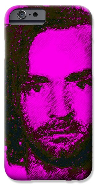 Mugshot Charles Manson m88 iPhone Case by Wingsdomain Art and Photography