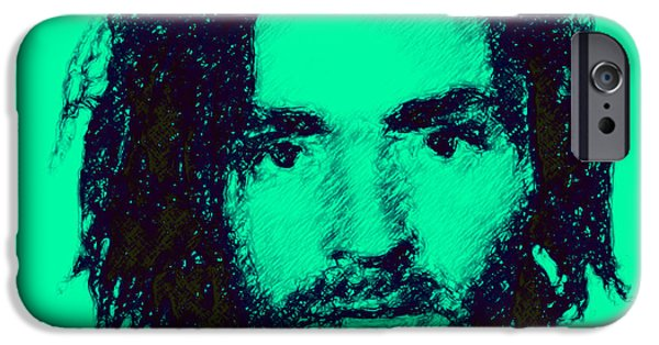Alcatraz iPhone Cases - Mugshot Charles Manson p128 iPhone Case by Wingsdomain Art and Photography