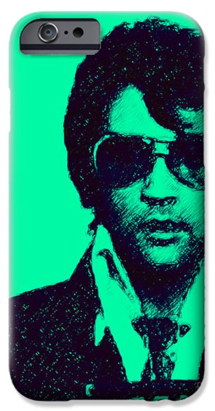 Mugshot Elvis Presley p128 iPhone Case by Wingsdomain Art and Photography