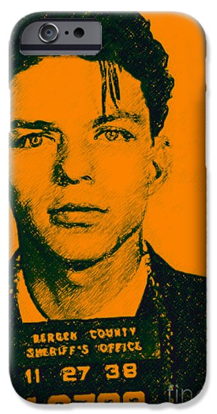 Mugshot Frank Sinatra v1 iPhone Case by Wingsdomain Art and Photography