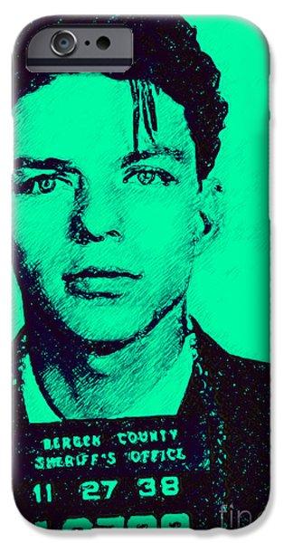 Alcatraz iPhone Cases - Mugshot Frank Sinatra v1m128 iPhone Case by Wingsdomain Art and Photography