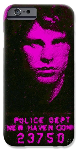 Mugshot Jim Morrison m88 iPhone Case by Wingsdomain Art and Photography