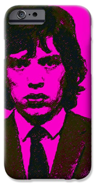 Alcatraz iPhone Cases - Mugshot Mick Jagger m80 iPhone Case by Wingsdomain Art and Photography