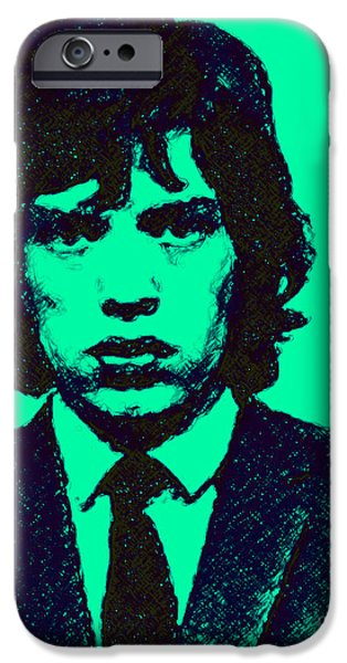 Alcatraz iPhone Cases - Mugshot Mick Jagger p128 iPhone Case by Wingsdomain Art and Photography