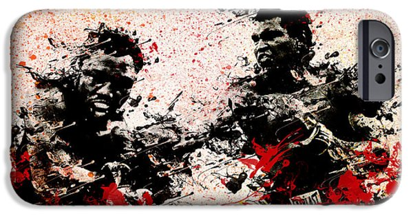 Boxer Digital Art iPhone Cases - Muhammad Ali 2 iPhone Case by MB Art factory