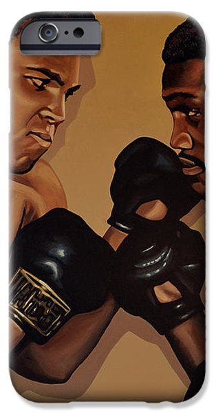 Muhammad Ali and Joe Frazier iPhone Case by Paul  Meijering
