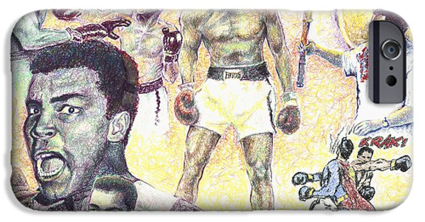Champ Boxer iPhone Cases - Muhammad Ali iPhone Case by Charles  Bickel