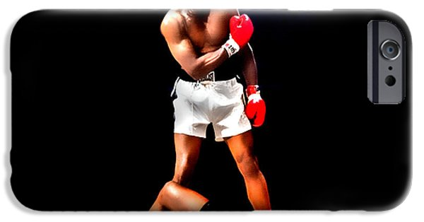 Olympic Gold Medalist iPhone Cases - Muhammad Ali Get up and Fight Sucker iPhone Case by Brian Reaves