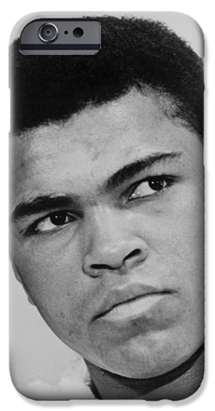 Best Sellers -  - Boxer Digital Art iPhone Cases - Muhammad Ali iPhone Case by Ira Rosenberg
