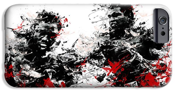 Boxer Digital Art iPhone Cases - Muhammad Ali iPhone Case by MB Art factory