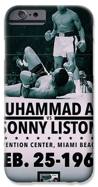 Muhammad Ali Poster iPhone Case by Dan Sproul