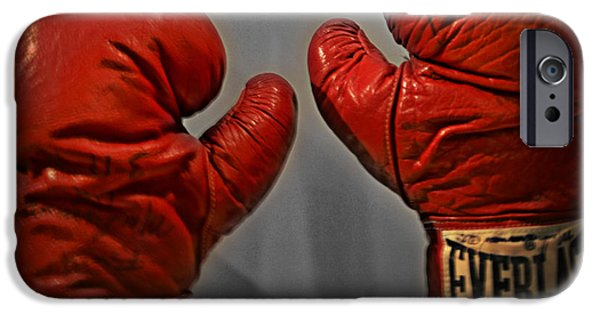 Smithsonian iPhone Cases - Muhammad Alis Boxing Gloves iPhone Case by Bill Cannon