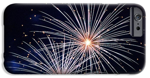 4th July Photographs iPhone Cases - 4th of July Fireworks 3 iPhone Case by Howard Tenke