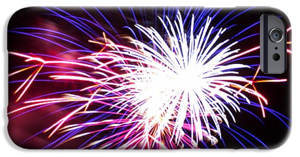 4th July Photographs iPhone Cases - 4th of July Fireworks 15  iPhone Case by Howard Tenke