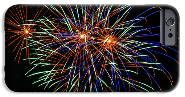 4th July Photographs iPhone Cases - 4th of July Fireworks 22 iPhone Case by Howard Tenke