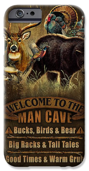 Multi Specie Man Cave iPhone Case by JQ Licensing