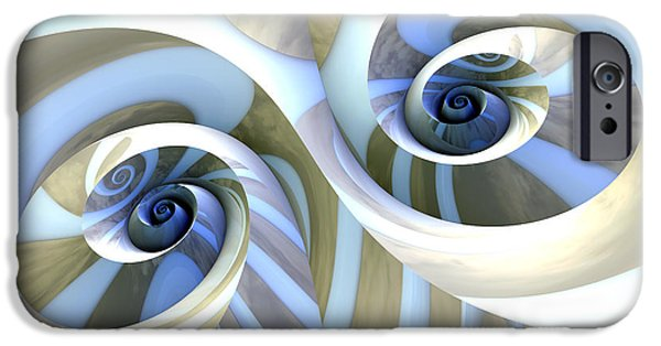 Abstract Digital Art iPhone Cases - Multi-Swirl iPhone Case by Kevin Trow