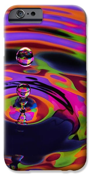 Multicolor Water Droplets 2 iPhone Case by Imani  Morales