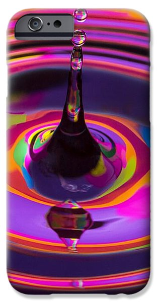 Multicolor Water Droplets 3 iPhone Case by Imani  Morales