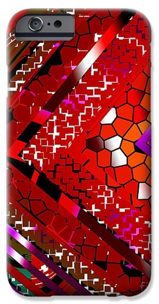 Transparency Geometric iPhone Cases - Multicolored Abstract Art iPhone Case by Mario  Perez