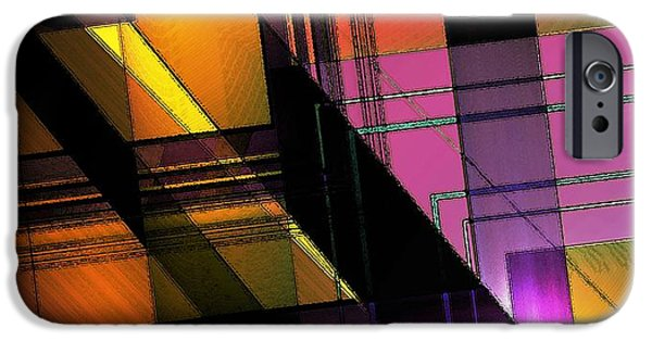 Transparency Geometric iPhone Cases - Multicolored Combination Art iPhone Case by Mario  Perez
