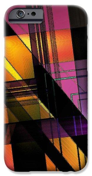 Multicolored Combination Art iPhone Case by Mario  Perez