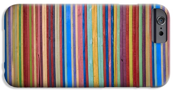 Graphic Design iPhone Cases - Multicolored Vertical Stripes iPhone Case by Don Gradner