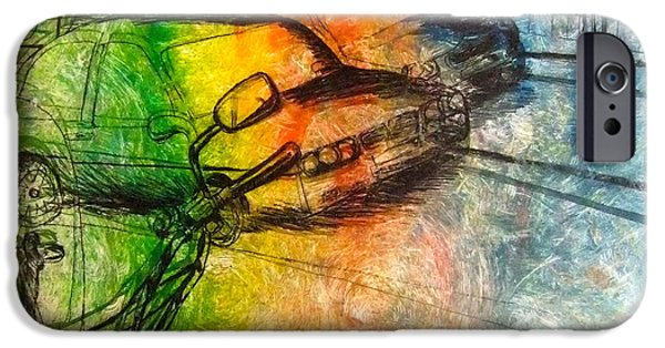 Cars Reliefs iPhone Cases - Multicoloured cars iPhone Case by Rita  Brereton