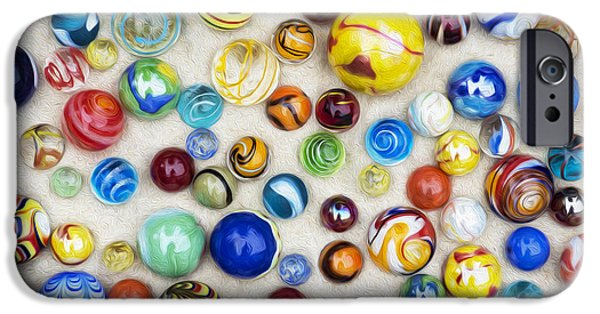Marble iPhone Cases - Multicoloured Marbles iPhone Case by Tim Gainey