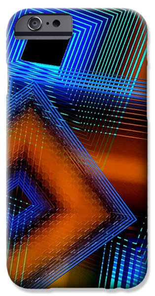 Transparency Geometric iPhone Cases - Multiple Lines on Geometrical Art iPhone Case by Mario  Perez