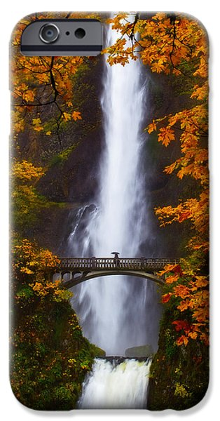Experience iPhone Cases - Multnomah Falls Color iPhone Case by Darren  White