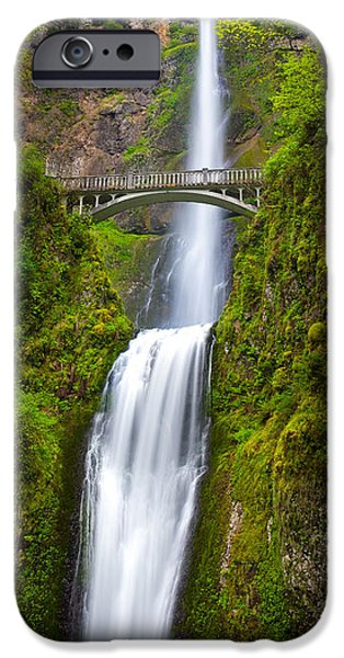 Pacific Northwest Rivers iPhone Cases - Multnomah Panorama iPhone Case by Inge Johnsson