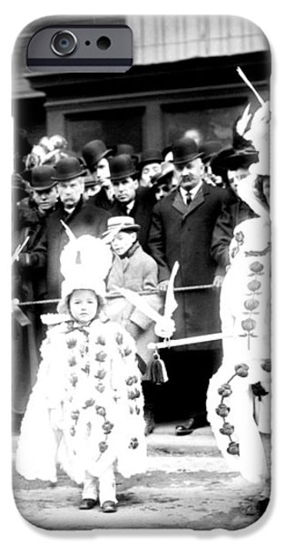 Mummers circa 1909 iPhone Case by Digital Reproductions