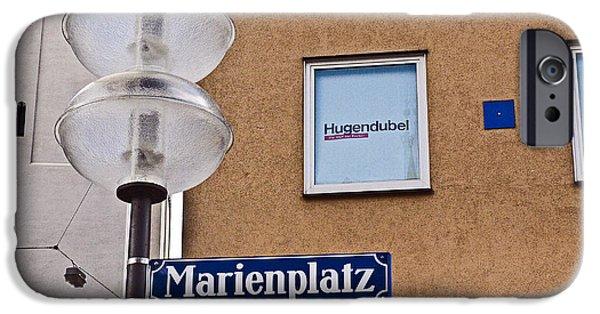 Marienplatz iPhone Cases - Munich Germany Marienplatz iPhone Case by Howard Stapleton