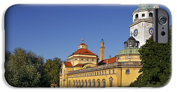Interior Scene iPhone Cases - Munich - Muellersches Volksbad - Au-Haidhausen iPhone Case by Christine Till