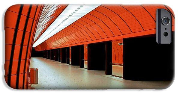 Marienplatz iPhone Cases - Munich subway I iPhone Case by Hannes Cmarits